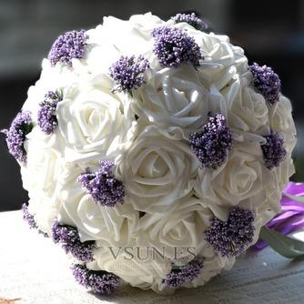 Ramos de novia blancas de la celebración de un regalo de boda ramo de novia regalo pura simulación manual - Página 1
