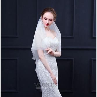 Velo corto de malla con peine velo simple velo de malla grande accesorios de boda - Página 3