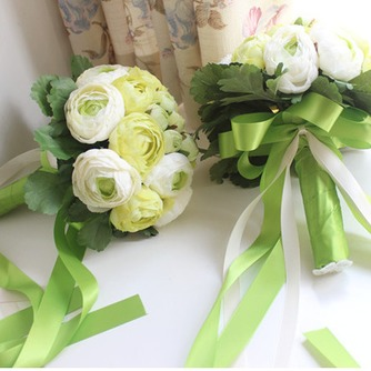 Las hojas son verde con flores flores de cartera de Dama de honor de la boda - Página 2