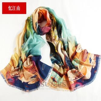 Collar de la bufanda de lana otoño e invierno para mantener a caliente joker mantón de la bufanda larga de manera - Página 4