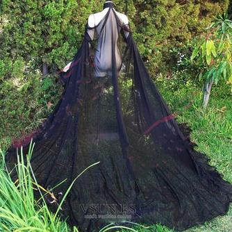 Abrigo de novia de capa de gasa negra con capa de capa - Página 2