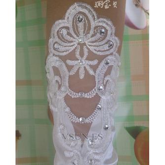 Guante de la boda primavera sexy Encaje Con lentejuelas - Página 1