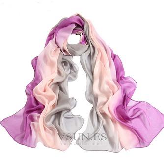 MS de seda bufandas bufandas gradiente otoño invierno cálida Bufanda mantón - Página 2