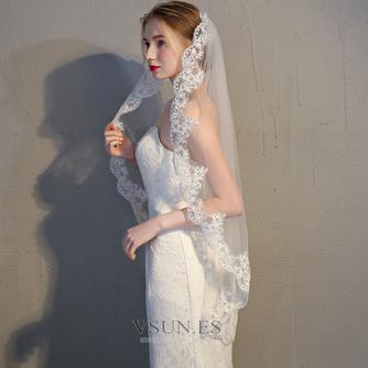 Velo de novia velo de encaje accesorios de boda con peine - Página 4