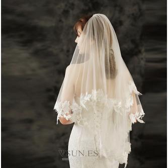 Velo de novia de encaje velo de novia corto con velo peinado accesorios de boda - Página 5