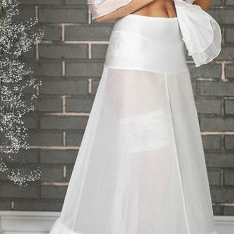 Dos ruedas glamour Terylene manga de sirena blanca enagua de la boda - Página 3