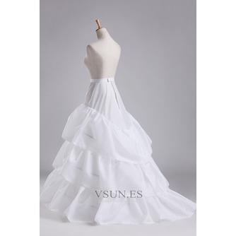 Volante elástico en la cintura total vestido poliéster tafetán boda enagua - Página 1