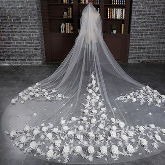 Velo de novia Diosa vestido de novia Otoño Encaje Cola Catedral Moderno - Página 1