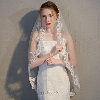 Velo de novia velo de encaje accesorios de boda con peine - Página 1