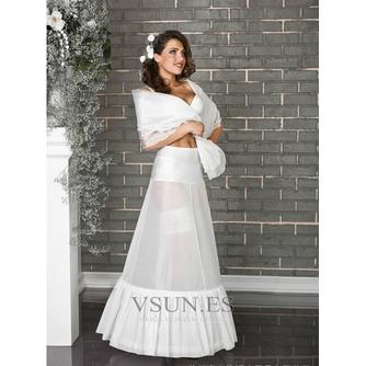 Dos ruedas glamour Terylene manga de sirena blanca enagua de la boda - Página 1