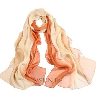 MS de seda bufandas bufandas gradiente otoño invierno cálida Bufanda mantón - Página 6