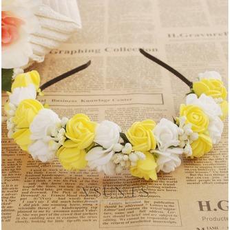 Guirnaldas de flores de cinta pelo pelo de vestido de boda de las chicas de viaje niños - Página 6