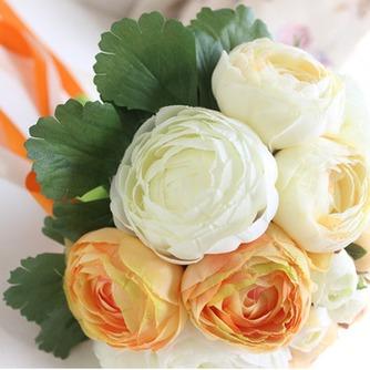 Mano de las novias coreanas de peonía blanca huashan Camelia simulación roja bouquet de bodas - Página 2
