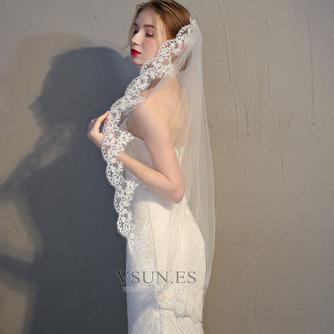 Velo de novia velo de encaje accesorios de boda con peine - Página 3
