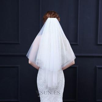 Velo corto de malla con peine velo simple velo de malla grande accesorios de boda - Página 2