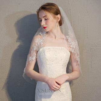 Velo corto de novia con velo peine velo de encaje delicado accesorios de boda - Página 2