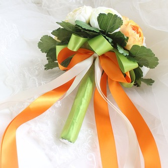 Mano de las novias coreanas de peonía blanca huashan Camelia simulación roja bouquet de bodas - Página 3