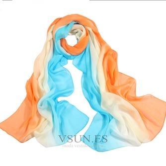 MS de seda bufandas bufandas gradiente otoño invierno cálida Bufanda mantón - Página 5