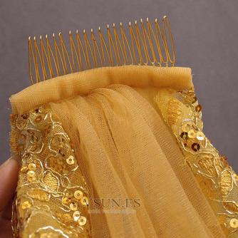3M lentejuelas doradas velo de novia velo de lentejuelas velo velo de novia catedral - Página 5