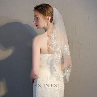 Velo corto de novia con velo peine velo de encaje delicado accesorios de boda - Página 4