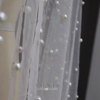 velo de perlas de lujo nupcial velo de perlas de boda velo de novia accesorios - Página 3