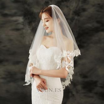 Velo de novia de encaje velo de novia corto con velo peinado accesorios de boda - Página 4