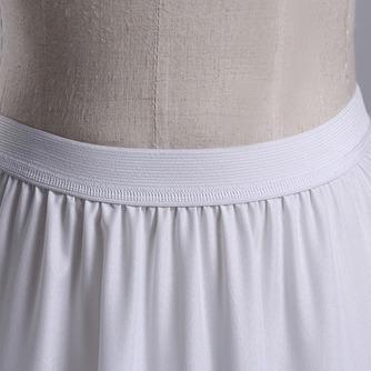 Ajuste del cordón de la sirena dos llantas moda poliéster tafetán boda enagua - Página 3