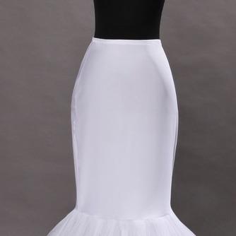 Enagua de la boda blanco vestido de boda de la sirena spandex ruedas sencillas - Página 2