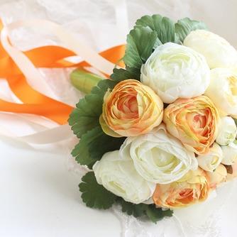 Mano de las novias coreanas de peonía blanca huashan Camelia simulación roja bouquet de bodas - Página 1