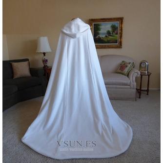 200CM chal de novia capa de satén chal blanco con capucha - Página 3