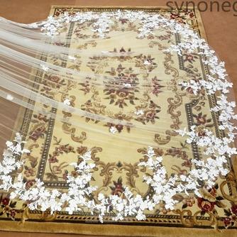 300CM velo de encaje velo de novia velo de novia catedral velo de encaje velo de flores - Página 3