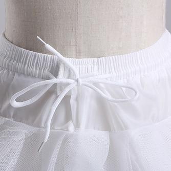 Ruedas de poliéster elegante estándar ajustable tres tafetán de la boda enagua - Página 2