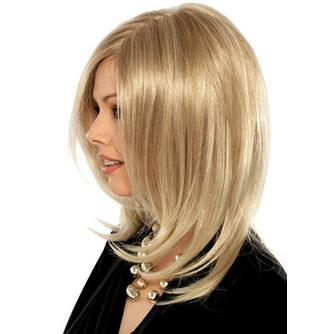 material temperatura normal ángulo flequillo de la peluca de bulbo largo rizado - Página 1