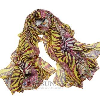 Impresos bufandas gasa cortina chal protector solar - Página 1