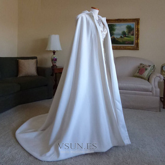 200CM chal de novia capa de satén chal blanco con capucha - Página 1