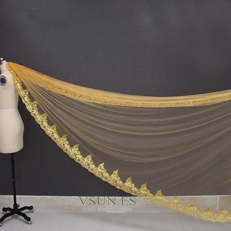 3M lentejuelas doradas velo de novia velo de lentejuelas velo velo de novia catedral - Página 4
