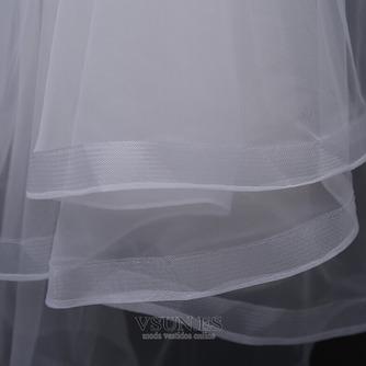 Velo de novia con velo doble velo corto de ribete corto velo retro - Página 8