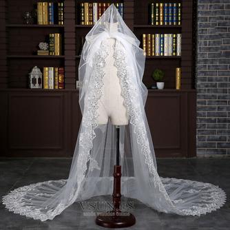 Velo alargado y ensanchado 3 metros de largo velo de cola accesorios de boda nupcial al por mayor - Página 3