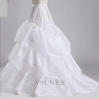 Volante elástico en la cintura total vestido poliéster tafetán boda enagua - Página 2