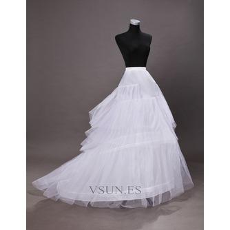 Poliéster tafetán volante vestido lleno cadena larga moda enagua de la boda - Página 4