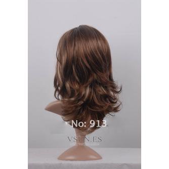 Rizado largo inclinado potro largo rizado adecuados para peluca de las mujeres - Página 4