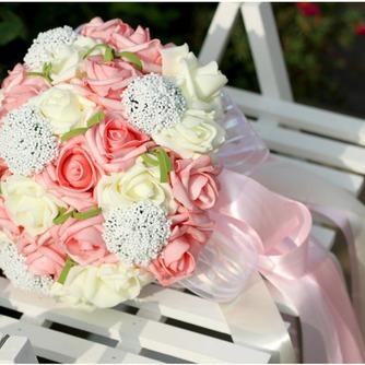Aparato de simulación 30 hilado con las rosas del ramo de novia todo la estrella de cielo - Página 1