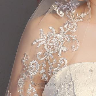 Velo corto de novia con velo peine velo de encaje delicado accesorios de boda - Página 5