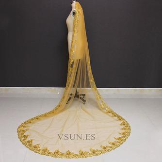 3M lentejuelas doradas velo de novia velo de lentejuelas velo velo de novia catedral - Página 2
