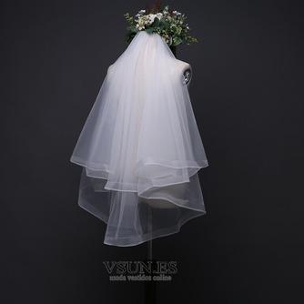 Velo de novia con velo doble velo corto de ribete corto velo retro - Página 5