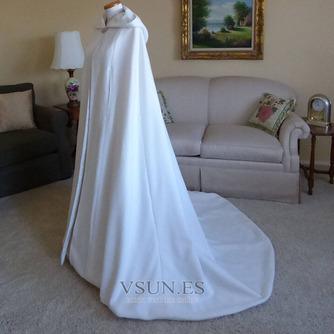 200CM chal de novia capa de satén chal blanco con capucha - Página 4