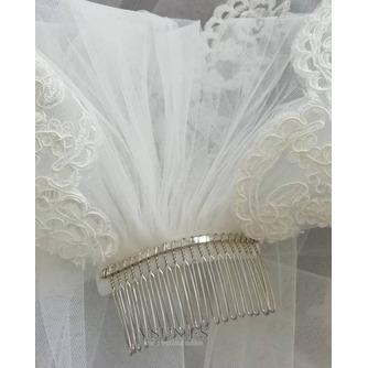 Velo de encaje de cola de iglesia velo de novia de novia velo de encaje de lujo - Página 7