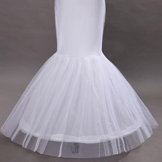 Enagua de la boda blanco vestido de boda de la sirena spandex ruedas sencillas - Página 3