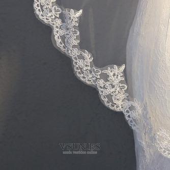 Velo de novia velo de encaje accesorios de boda con peine - Página 5