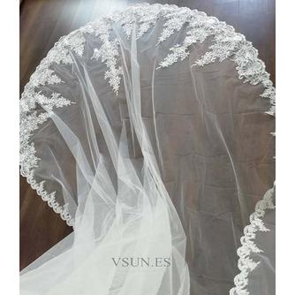 Velo de encaje de cola de iglesia velo de novia de novia velo de encaje de lujo - Página 2